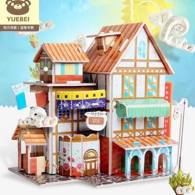 神童小子 儿童3D立体益智玩具拼图 4件套