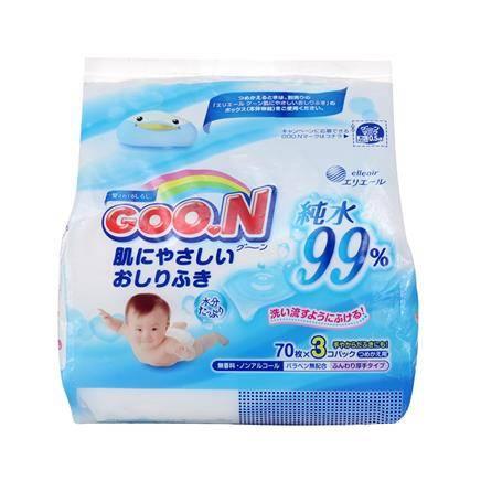 移动端: GOO.N 大王 99%纯净水婴儿湿巾 70抽x3