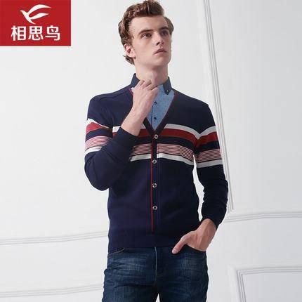 反季清仓:相思鸟 男士假两件针织衫