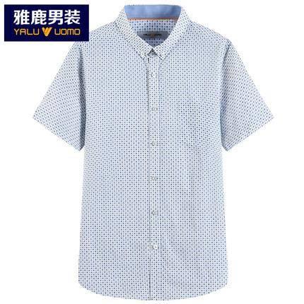 雅鹿 男士短袖衬衫