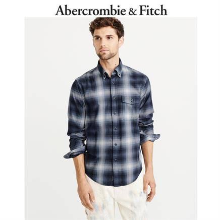 Abercrombie&Fitch 男士潮流格子衬衫 167元包邮