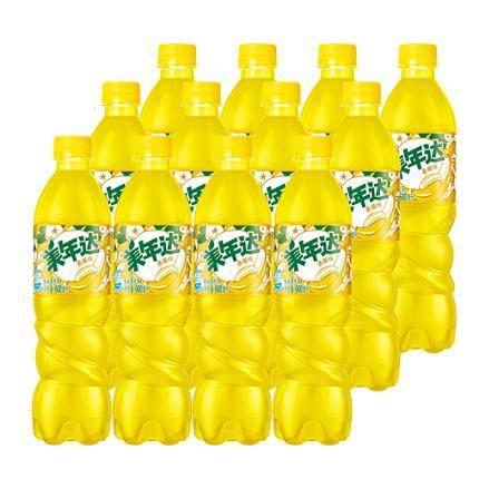限华东:Mirinda 美年达 香蕉味 汽水碳酸饮料 500/600ml*12瓶