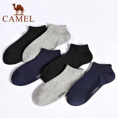 骆驼 男士棉质船袜 6双