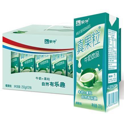 蒙牛 真果粒牛奶饮品(椰果)250ml*12盒 22.74元(1件6折)