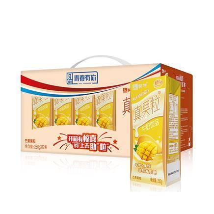 蒙牛 真果粒牛奶饮品 芒果口味 康美包 250ml*12包 22.74元(1件6折)