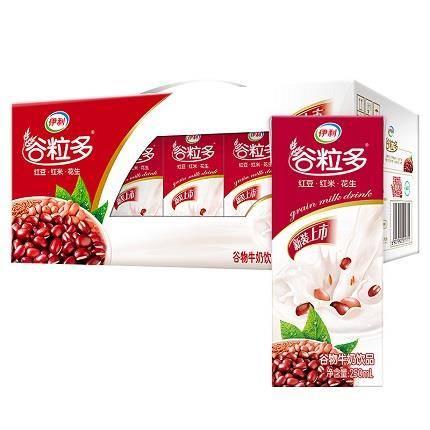 限地区:伊利 谷粒多 红谷粗粮牛奶饮品 250ml*12盒(早餐奶) 16.4元(1件5折)