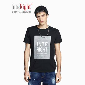 INTERIGHT 男士圆领印花短袖T恤*2件 37.83元(合18.91元/件)
