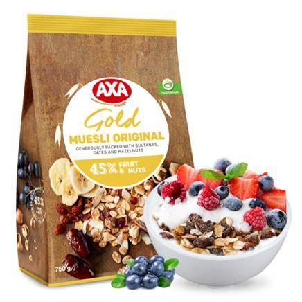 AXA 爱西爱 金装 水果混合麦片 45% 750g*3件+肴福  弱碱性食盐烤盐 250g*3*2件