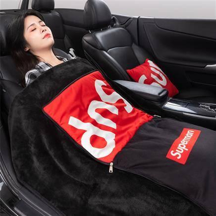 24日10点:途喜 汽车 可折叠多功能 靠垫抱枕毯子