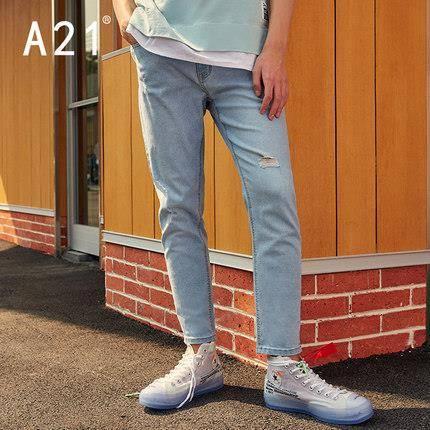 A21 4821010000 男士直筒牛仔裤*2件