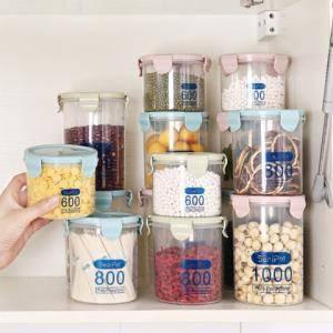 莱朗 透明塑料密封罐3件套 600+800+1000ml*2件