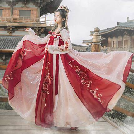 骁熊 中国风齐胸襦裙 龙母汉服女 3米摆 158元包邮(需用券)