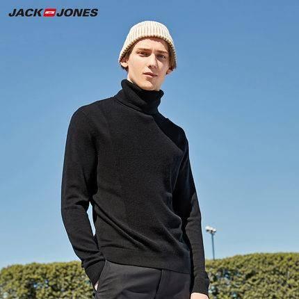 19日0点、前1小时:JackJones 杰克琼斯 219324525 男士羊毛高领针织衫 134.5元包邮(立减)