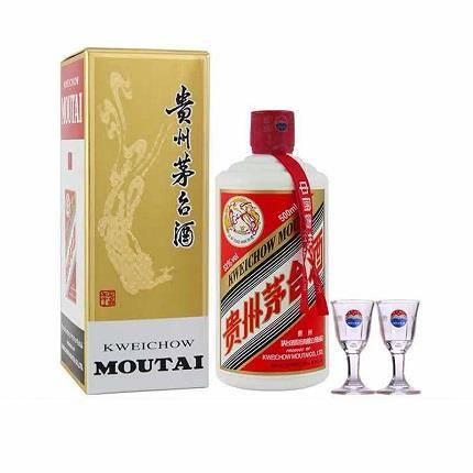 22点:贵州茅台 53度飞天茅台 酱香型白酒 500ml
