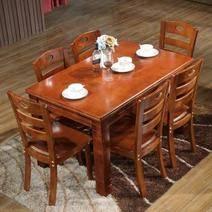 唐弓 實木餐桌椅組合 海棠色 1.3米 一桌四椅 1099元包郵(需用券)