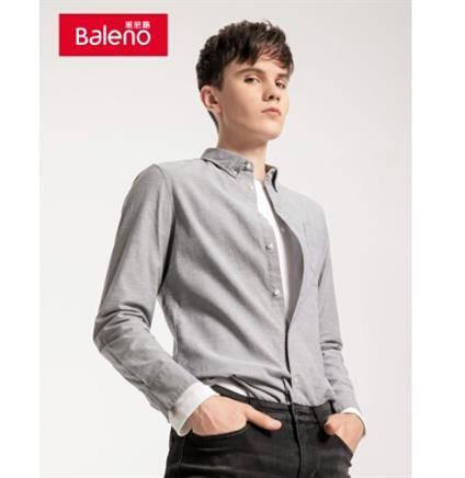 10日0点、前30分钟:Baleno 班尼路 88734001J 牛津纺衬衫