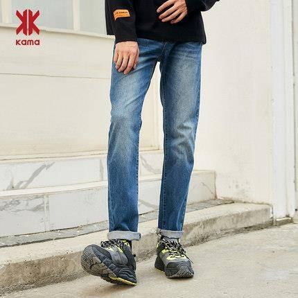 双11预告:KAMA 卡玛 2116333 男士直筒牛仔裤
