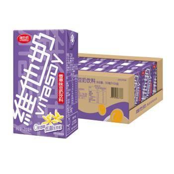 京东PLUS会员:维他奶 香草味豆奶植物蛋白饮料 250ml*24盒整箱装*3件