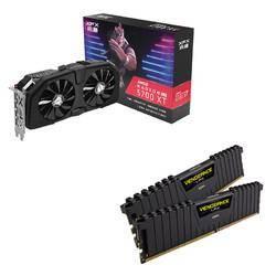历史低价: XFX 讯景 RX5700 XT 黑狼 游戏显卡 + 海盗船16G(8G*2) DDR4 3000 内存