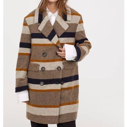 H&M 女装毛呢外套 HM0690593