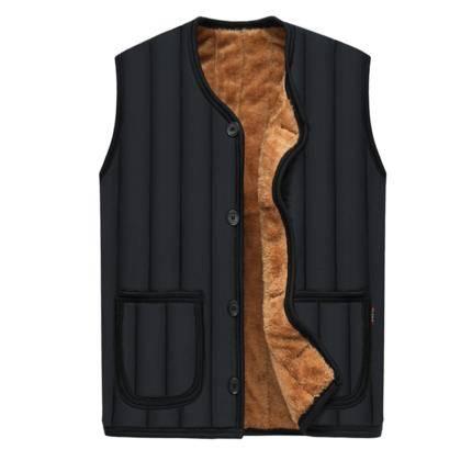 堡狮洛 男款保暖背心加绒马甲 XL-4XL码