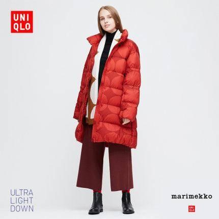 优衣库 426242 女士高级轻型羽绒茧形大衣