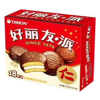 降价!Orion 好丽友 巧克力派 18枚 612g *5件 67.25元(合13.45元/件)