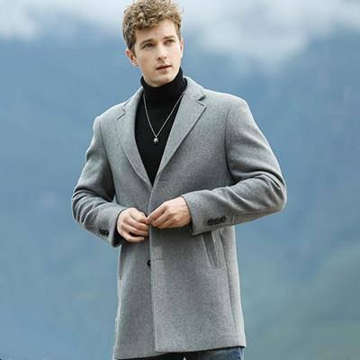 雪中飞 X90532705F 男士羊毛呢大衣