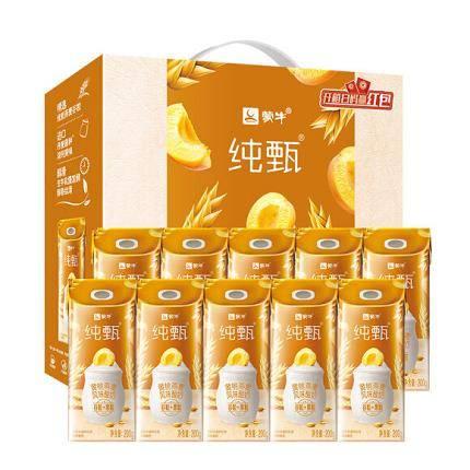 16点开始:蒙牛 纯甄 常温风味酸牛奶 燕麦+黄桃 200g*10盒 *3件 94.96元(双重优惠,合31.65元/件)