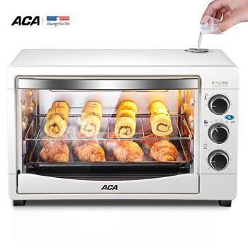 20点开始: ACA 北美电器 ATO-MS32G 32升 电烤箱(带蒸汽) 99元包邮(限1212台)