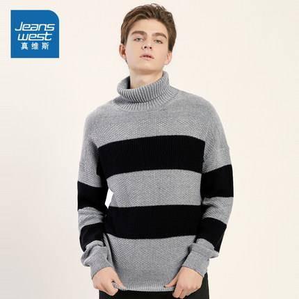 真维斯 JE-84-193001 男士高领毛衣
