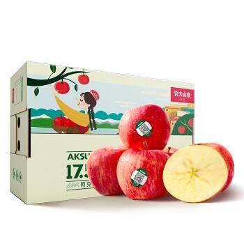 农夫山泉 17.5°苹果 阿克苏苹果 3.6kg 单果径85-89mm *3件    120.2元包邮(双重优惠)