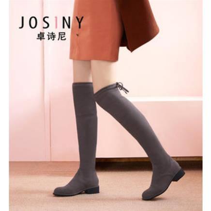 4日10点:卓诗尼 女士过膝长筒靴