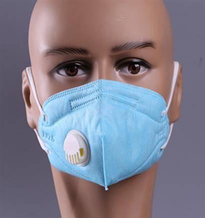 防尘口罩 呼吸阀透气N95 折叠口罩    0.4元