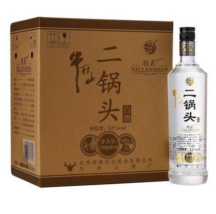 京东PLUS会员:牛栏山 二锅头 特制10年 52度700ml*6瓶*2件