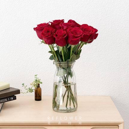 情人节好礼:花点时间 云南直发 单头玫瑰 10枝36.9元包邮