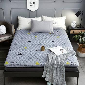 PLUS会员:种棉人 可折叠双人床褥子 1.5米 150*200cm57元