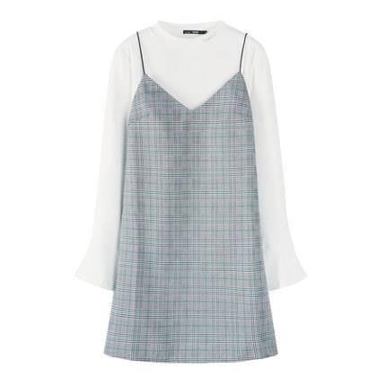 Semir 森马 13058140018 女士格纹裙子两件套
