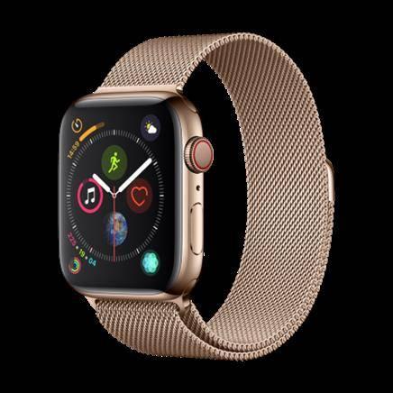 Apple Watch Series 4智能手表(GPS 蜂窝款 44毫米金色不锈钢表壳 金色米兰尼斯表带 MTX52CH/A)4499元