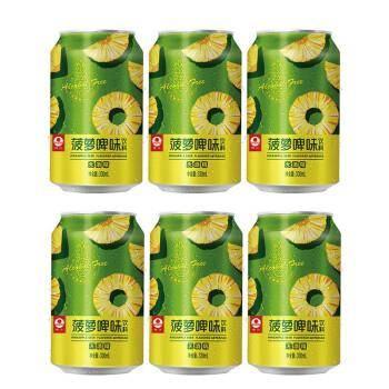 珠江啤酒(PEARLRIVER) 菠萝味饮料 330mL*6罐*6件 51.4元(合8.57元/件)