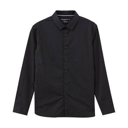 美特斯邦威 722480 男士拼色长袖衬衫