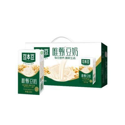 10点开始:天猫超市 豆本豆 唯甄豆奶 250ml*24盒*3件