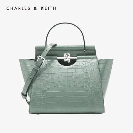 CHARLES&KEITH CK2-50780937 金属扣手提单肩包