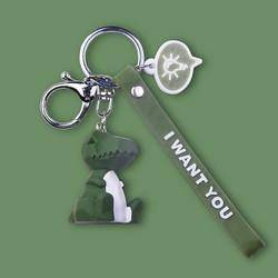醉藍 幾何動物卡通鑰匙鏈