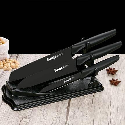 移動專享:拜格 黑騎士三件套(切片刀+料理刀+水果刀)