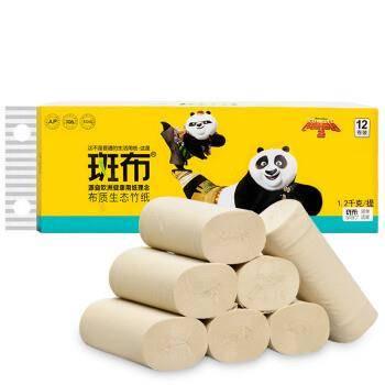 BABO 斑布 功夫熊猫系列无芯卷纸 3层100g*12卷 *4件    合5.95元/件