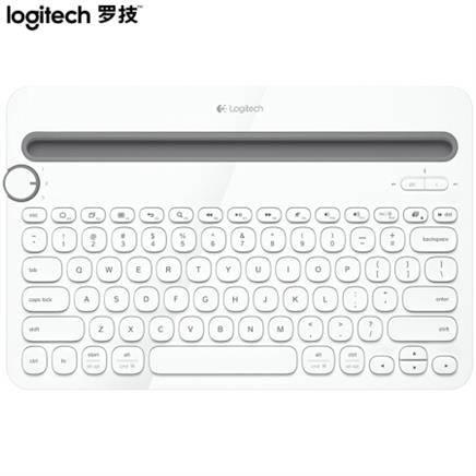 Logitech 罗技 K480 键盘 无线蓝牙键盘 办公键盘 女性 便携 超薄键盘 笔记本键盘 白色 自营129元