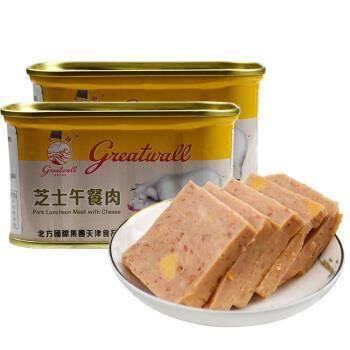 限地区、plus会员:长城 芝士午餐肉 小白猪罐头 198g*2罐*6件113.52元(折18.92元/件)