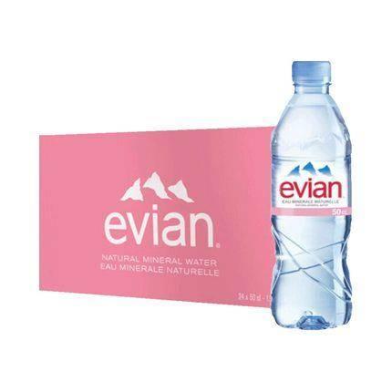 Evian 依云 天然矿泉水 天然水源弱碱性水饮用水 500ml*24瓶 85元