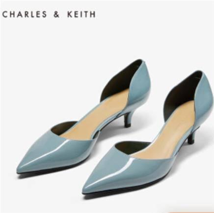 京东PLUS会员:CHARLES&KEITH CK1-60920179 女士尖头中跟单鞋